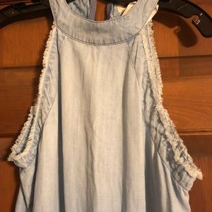 e849cba120f cloth   stone Other - Anthropologie Cloth   Stone Romper S denim frayed